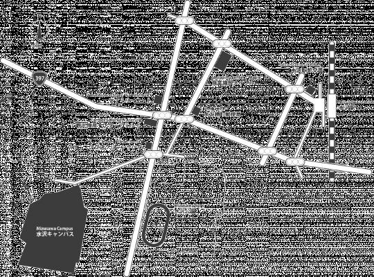 Mizusawa campus area map